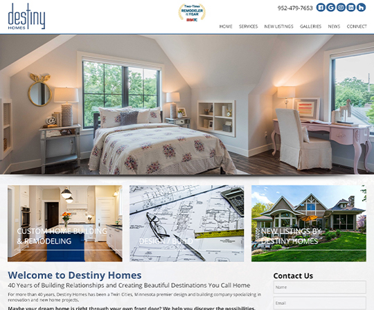 Destiny Homes, Luxury Home Builder and Remodeler Wayzata Minnesota
