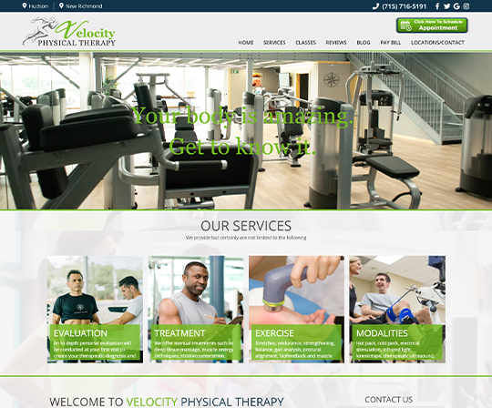 Velocity Physical Therapy Hudson, Wisconsin
